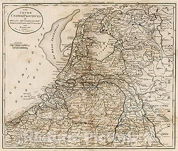 Amazon.com: Historic Map - 1795 The Seven United Provinces ...