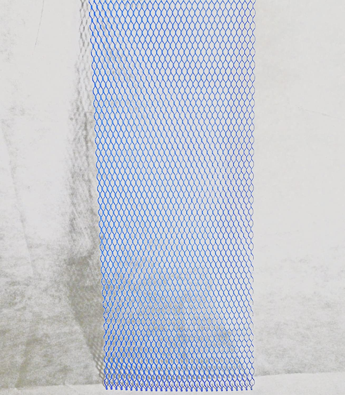 Streckgitter Blau mit Struktur Alu Renngitter 100x33cm Racegitter