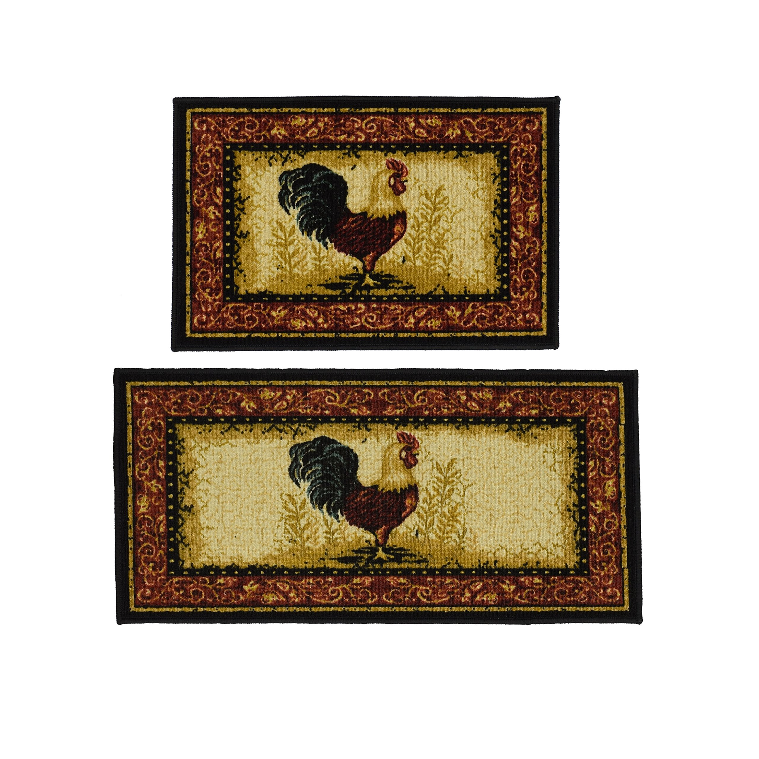 Rooster 2-piece Rug Set, Bring A CountrySide Feel To Your Home.