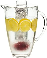 FineLife Acrylic 2 liter Infusion Drink Pitcher with Ice Chiller