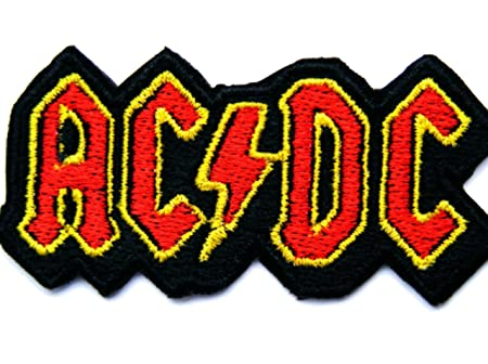 coolpart acdc ac dc music band logo patch rock heavy metal punk rh amazon co uk Heavy Metal Battle Jacket heavy metal band patches uk