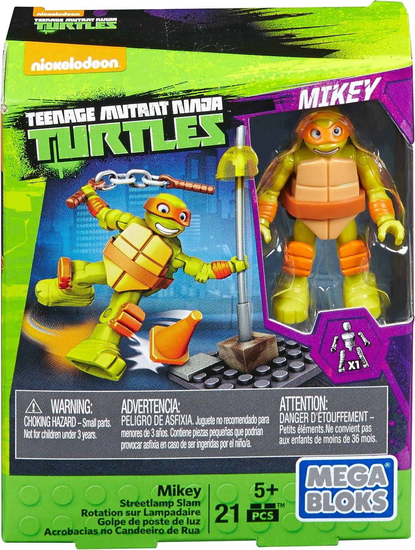 Mega Bloks Teenange Mutant Ninja Turtles Mikey Streetlamp Slam Building Playset