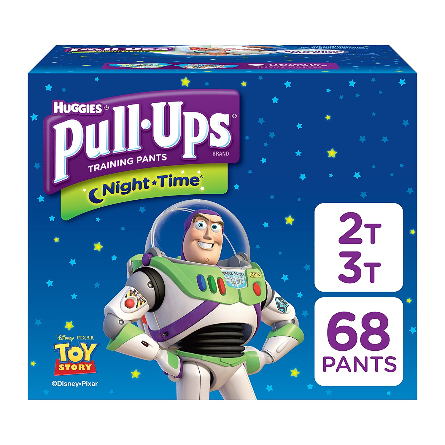 Pull-Ups Night-Time, 3T-4T (32-40 lb.), 60 Ct., Potty Training Pants for Boys, Disposable Potty Training Pants for Toddler Boys (Packaging May Vary) 10036000454953