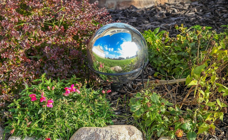 Lily casa de cristal mirando bola bola de espejos bola de jardín en plata: Amazon.es: Jardín
