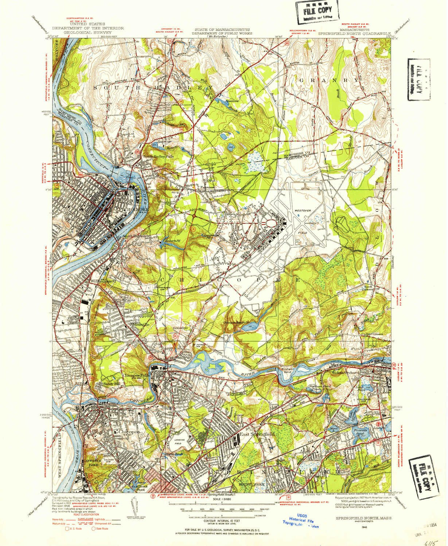 Topographic Map Massachusetts.Amazon Com Yellowmaps Springfield North Ma Topo Map 1 31680 Scale