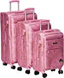 Hello kitty Luggage Trolley Bags Set 3 pcs 54-10697-light pink