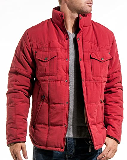 Lenny And Loyd Doudoune Homme Rouge Multipoches Couleur Rouge