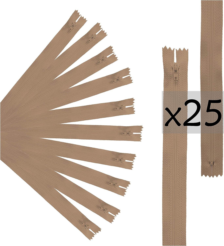 My Custom Style 25 Chiusure Zip Cerniere Lampo Bianche da 35x2,5cm