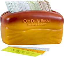 "DaySpring Our Our Daily Bread Promise Box with Scripture Cards, 4 1/4"" x 2 1/4"" x 2"", Brown - T9651"
