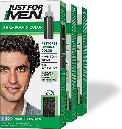Just For Men Champú En # H-50 Haircolor más oscuros marrón