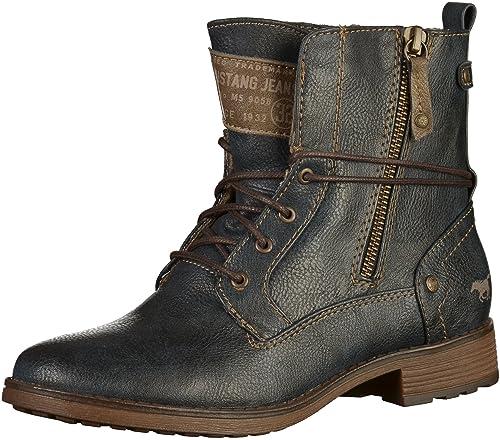 Mustang - botines de caño bajo Mujer , color azul, talla 41: Amazon.es: Zapatos y complementos