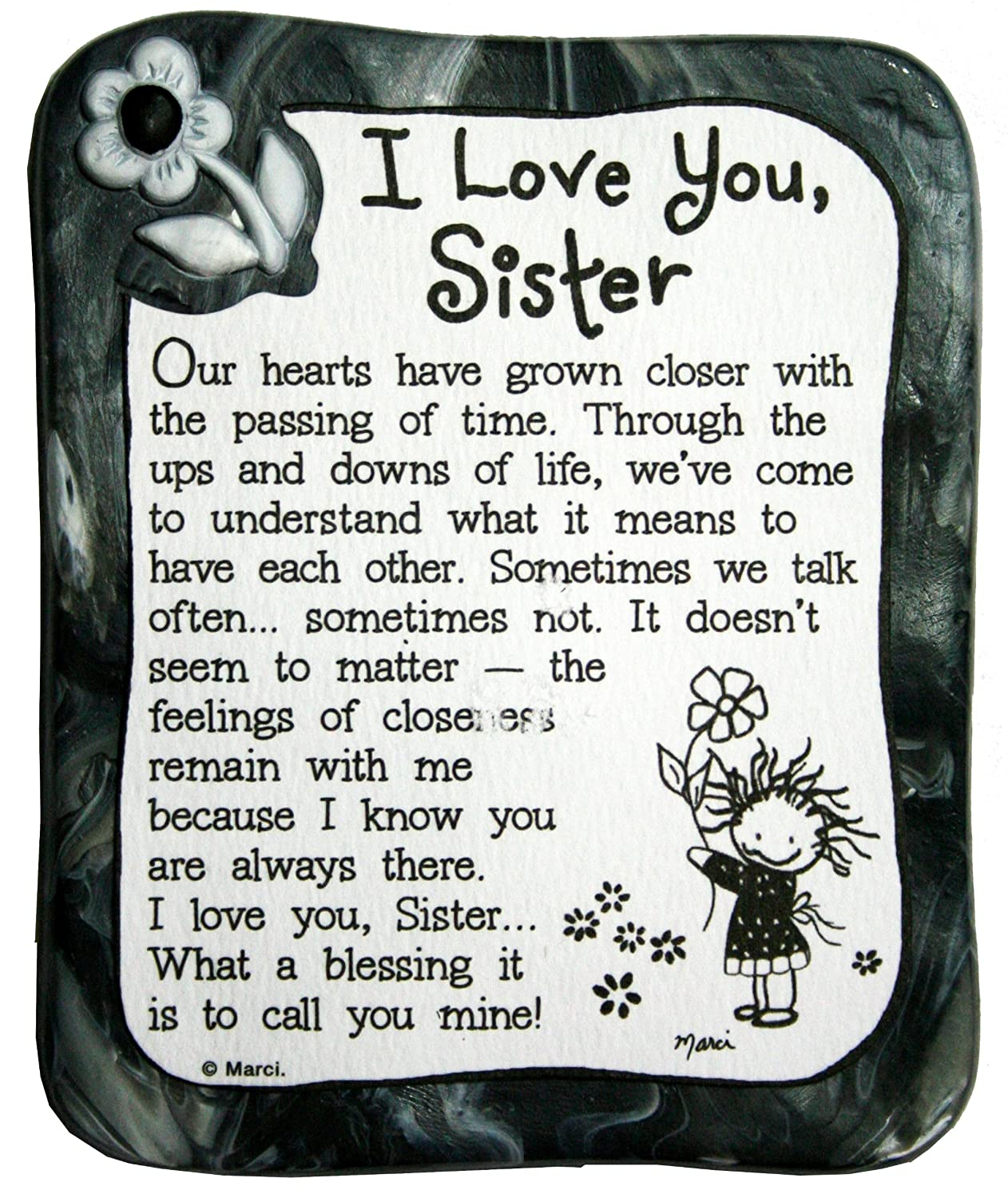 Blue Mountain Arts I Love You Sister By Marci Sculpted Resin Magnet
