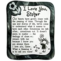 "Sculpted Magnet: I Love You Sister, 3.0"" x 3.5"""