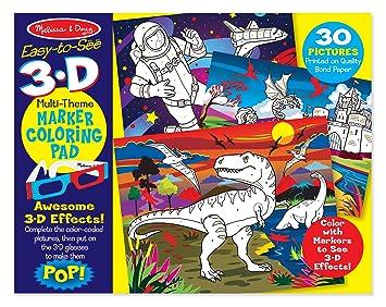 Melissa & Doug 3D Coloring Book - Boy: Amazon.co.uk: Toys & Games