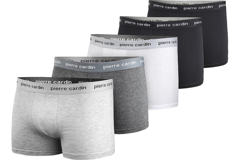 Pierre Cardin – 5 o 12 Calzoncillos Tipo bóxer de Moda de Marca en Diferentes Modelos y Colores a Elegir