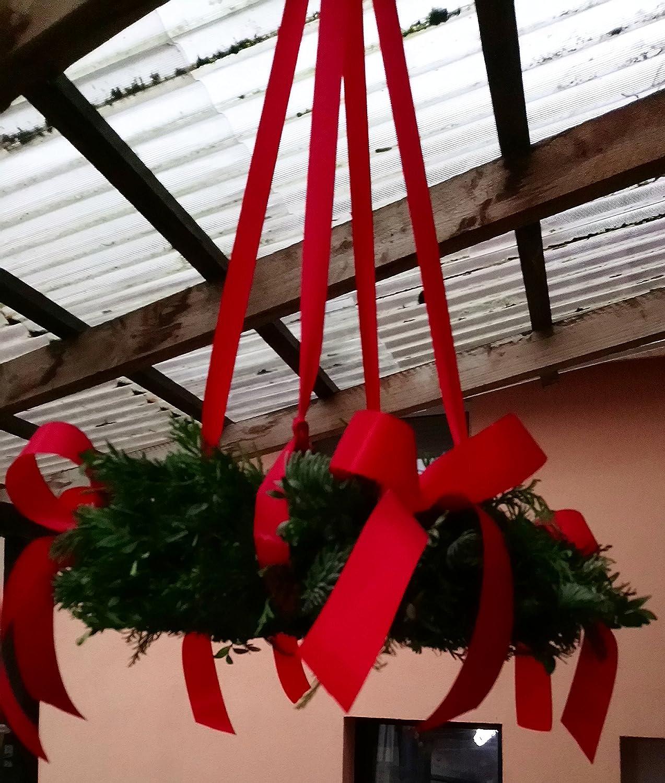 Großer Adventskranz Tannen,-Koniferenmix 50-70cm - frisch - von Hand rund gebunden, zum hängen incl Schleifenband