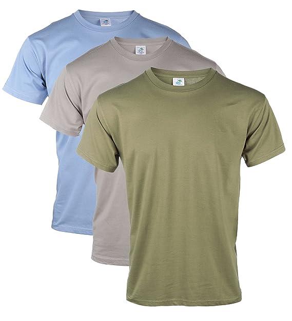 BLU Cherry - Pack de camisetas para hombre lisas, de 100% algodón, en blanco, básicas, informales: Amazon.es: Ropa y accesorios