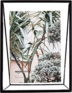 AmazonBasics Wedge Floating Photo Frame for 5 x 7 Inch Photos - Slim Frame, Black