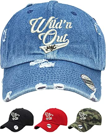 9e32e93545d Allntrends Adult Dad Hat Wild  N Out NYC Trendy Vintage Hat Embroidered Cap  (Black) at Amazon Women s Clothing store