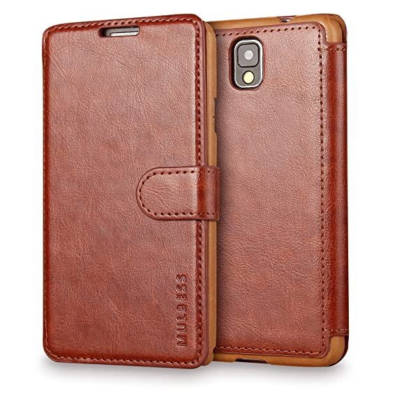 newest 73460 dd269 Galaxy Note 3 Case Wallet,Mulbess [Layered Dandy][Vintage Series][Coffee  Brown] - [Ultra Slim][Wallet Case] - Leather Flip Cover With Credit Card  Slot ...