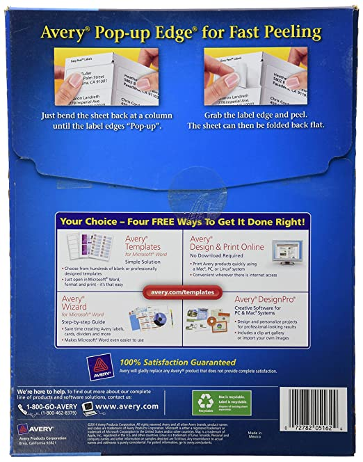 Amazon Avery Easy Peel Mailing Labels For Laser Printers 133