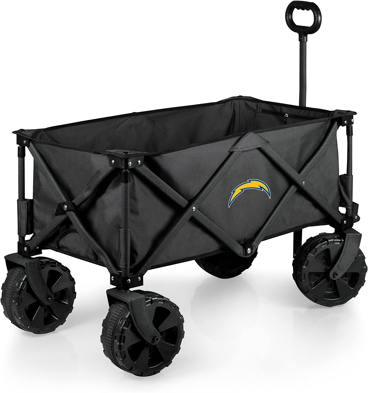 NFL Los Angeles Chargers Elite Edition Collapsible Adventure Wagon with All-Terrain Wheels