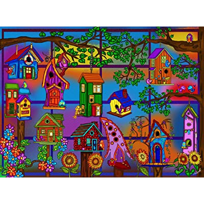 JaCaRou Puzzles Spring is HERE 1000 Pieces Jigsaw Puzzle: Toys & Games