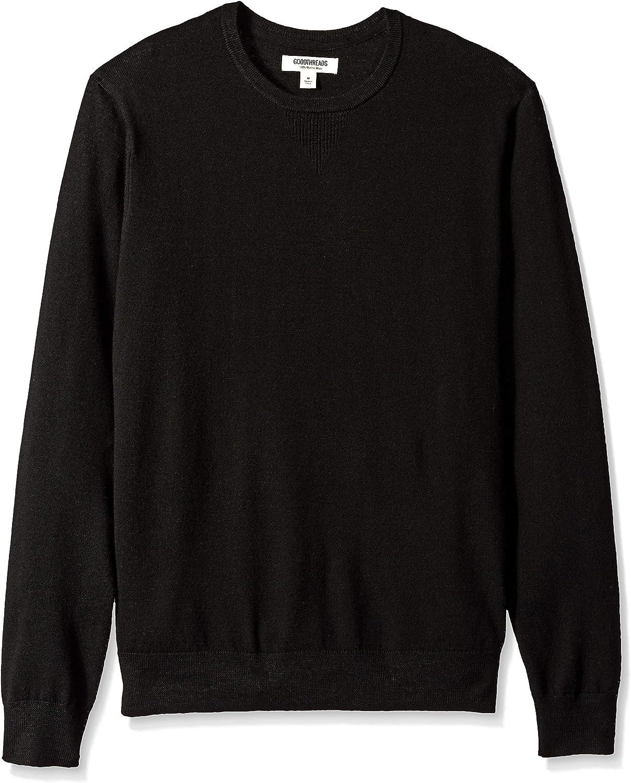 black Goodthreads Merino Wool Crewneck Sweater EU XXXL-4XL US XXL
