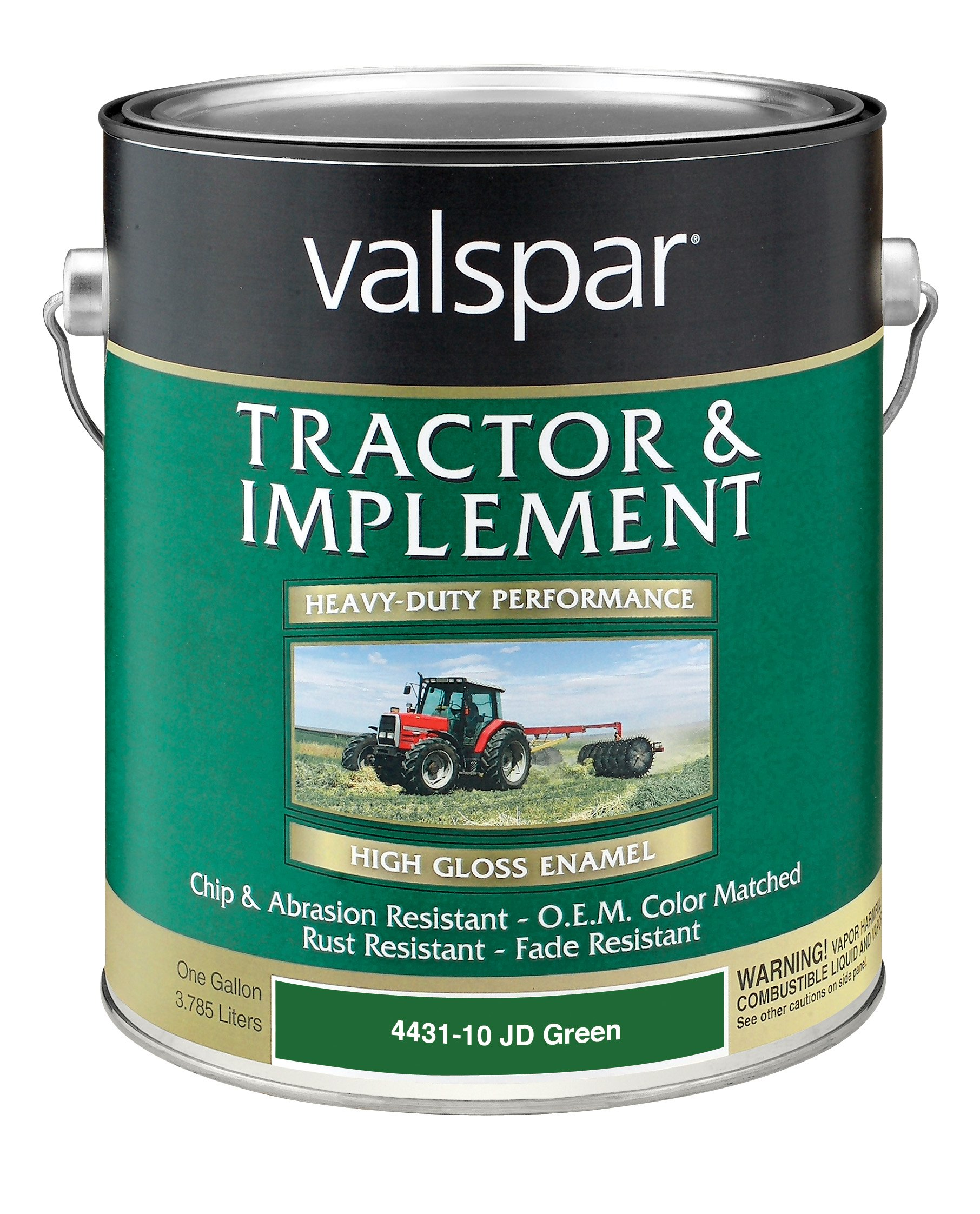 Valspar 4431-10 JD Green Tractor and Implement Paint - 1 Gallon