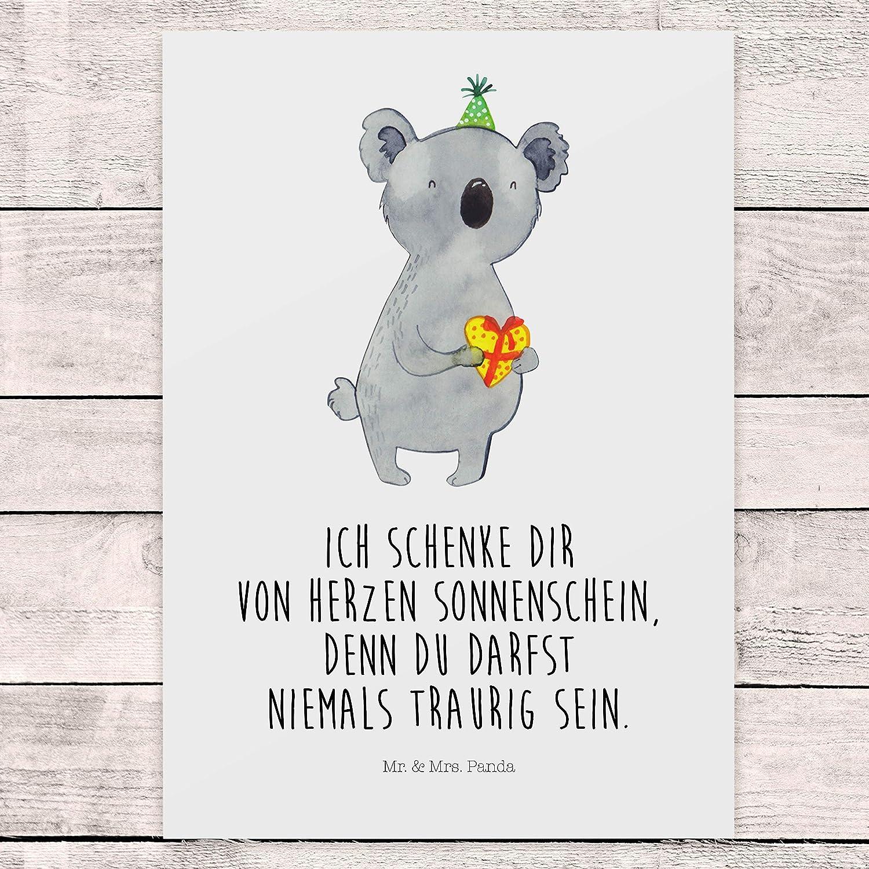 Mr /& Mrs Panda Ansichtskarte Farbe Wei/ß Geschenkkarte Postkarte Koala Geschenk mit Spruch