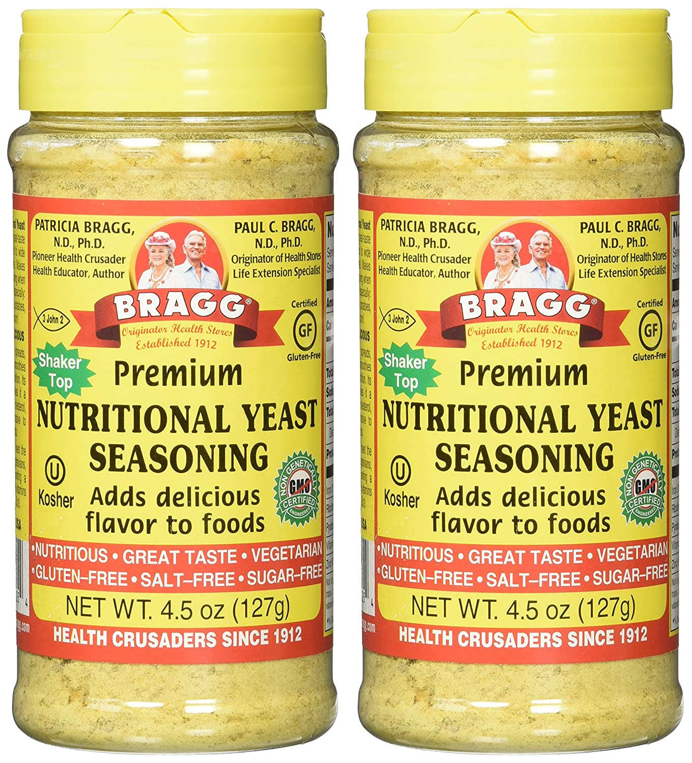 Braggs Nutritional Yeast 4.5oz 2 Pack by Bragg: Amazon.es ...
