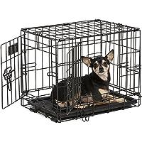 MidWest Homes for Pets Dog Crate | iCrate Single Door & Double Door Folding Metal Dog Crates |…