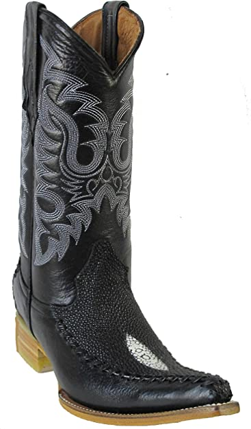 Men/'s New Leather Exotic Lizard Design Rodeo Western Cowboy Boots J Toe  Black