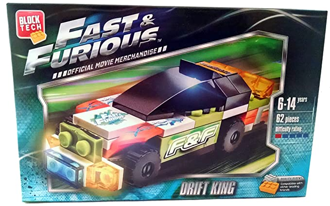 Block Tech - Fast & Furious Drift King Car - 62pc Official Movie Merchandise