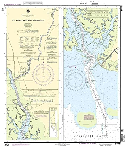 Amazon.com: NOAA Impresión sobre demanda gráfico St.Marks ...