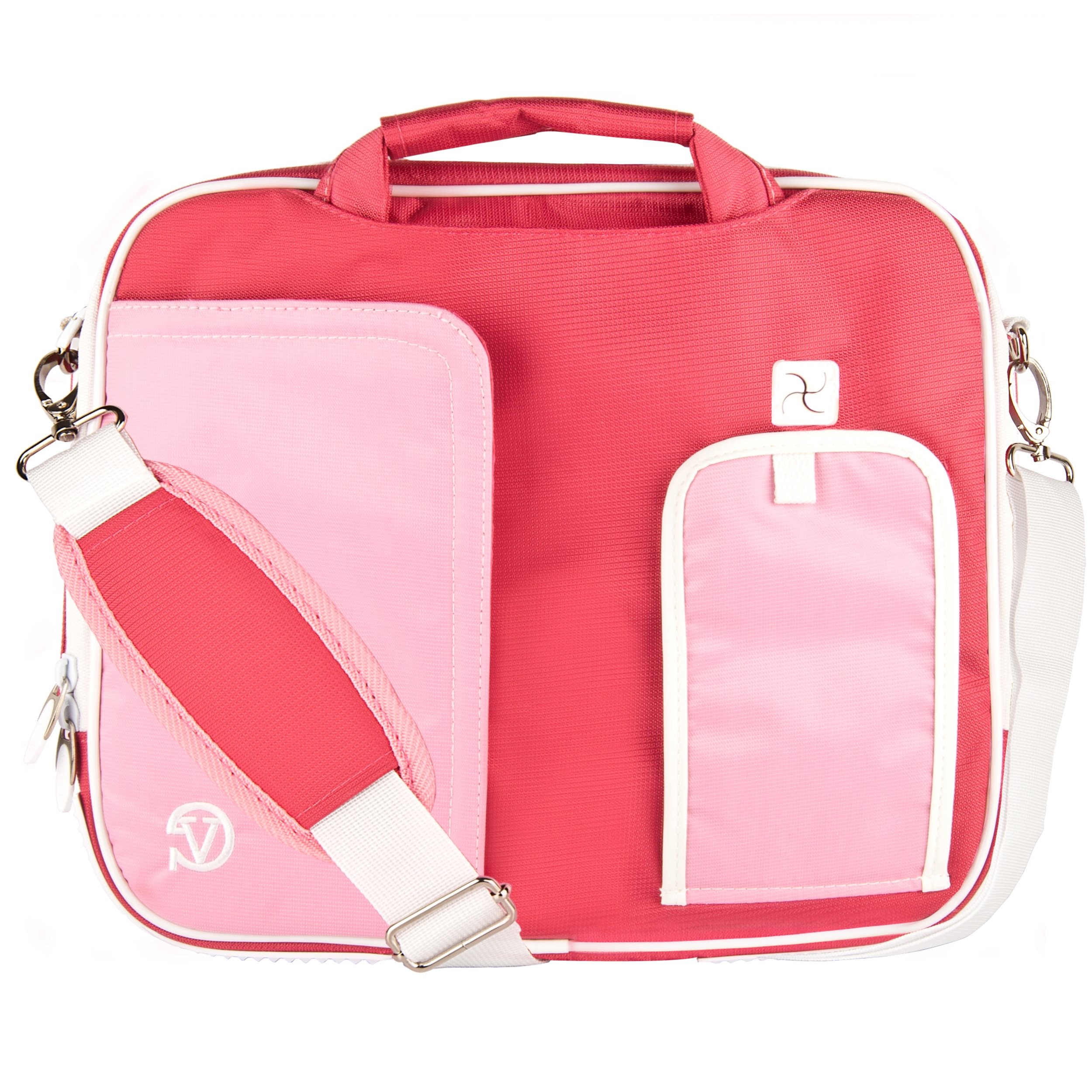Pink Briefcase Crossbody Shoulder Travel/Business/College Bag for 15.6'' Dell Laptops