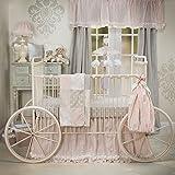 Glenna Jean Contessa Quilt, Crib Skirt, Sheet Set, Pink, Cream, Floral, Fancy, Unique, Princess