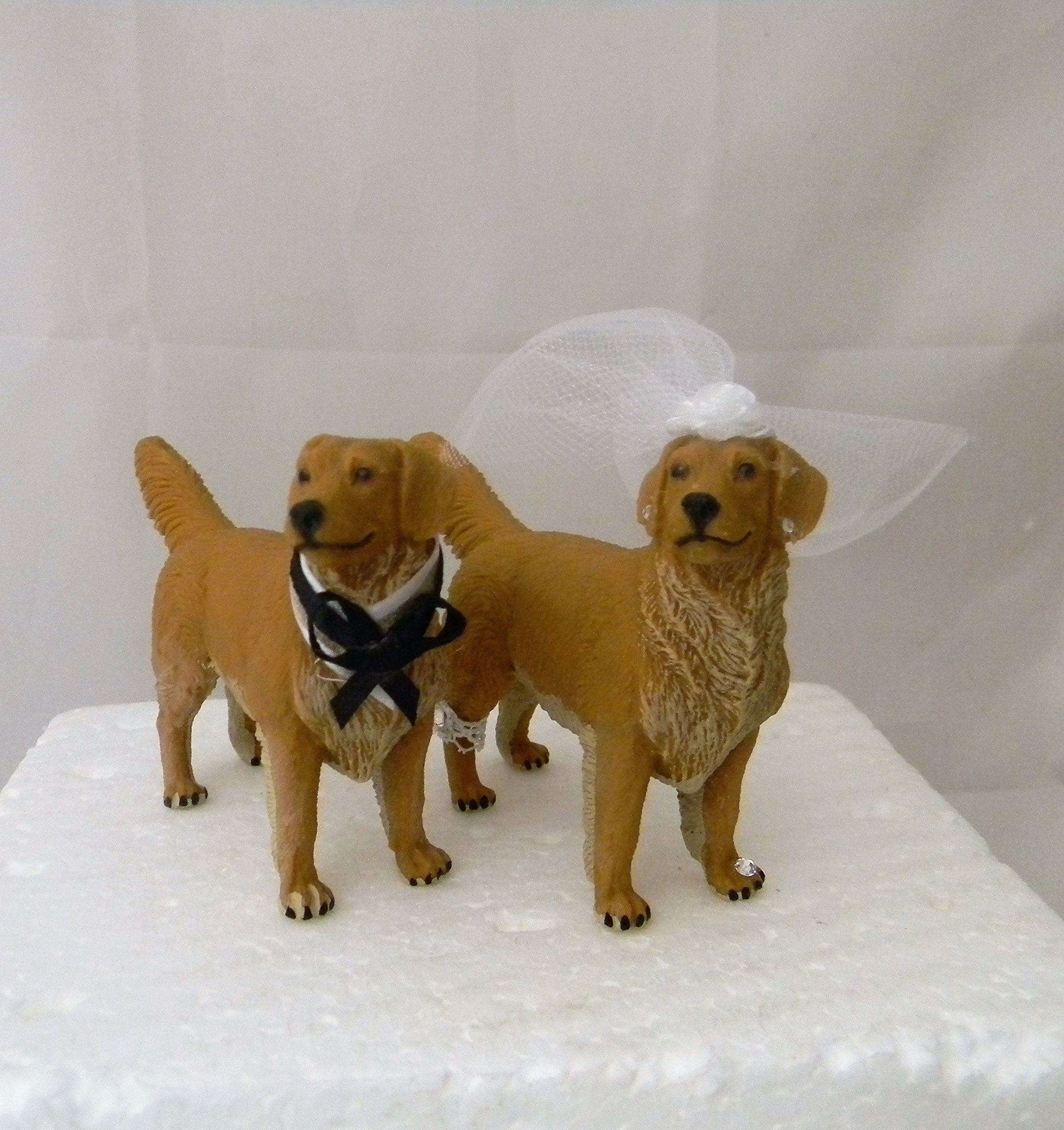 Wedding Reception Golden Retriever Dogs Pet Party Cake Topper