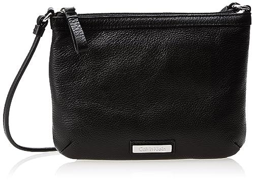 3a4a7dd27ee0 Calvin Klein Pebble Leather Cross Body Bag