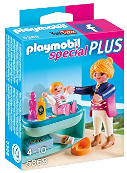 Playmobil - 5368 - Maman avec Bébé et Table à Langer: Amazon.fr ...