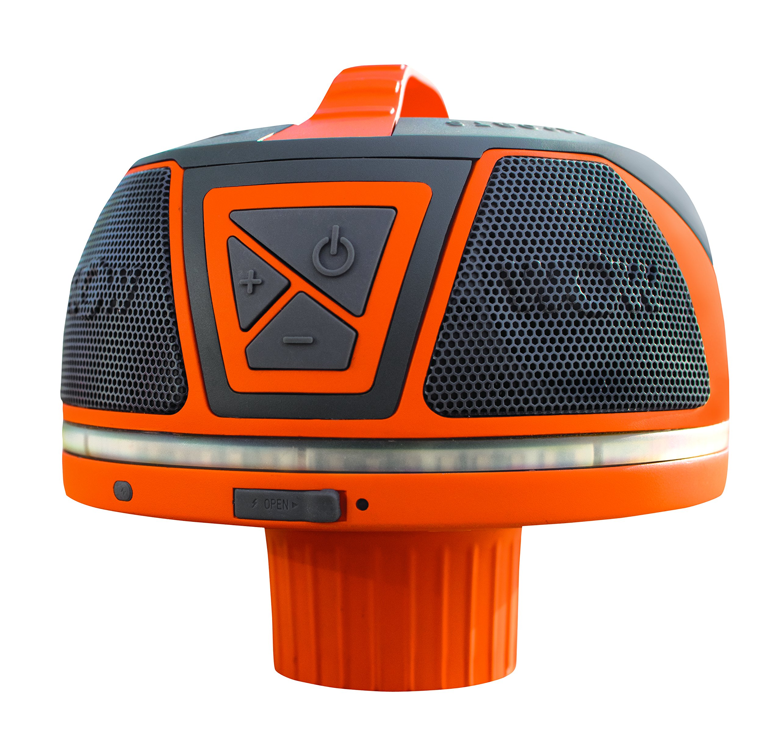 Wow World of Watersports Wow Sound 17-9000, Bluetooth Floating Speaker, Waterproof, 50 Hour Battery, 360 Degree Sound, LED Light, Fits in A Cup Holder (Orange) by WOW Sports