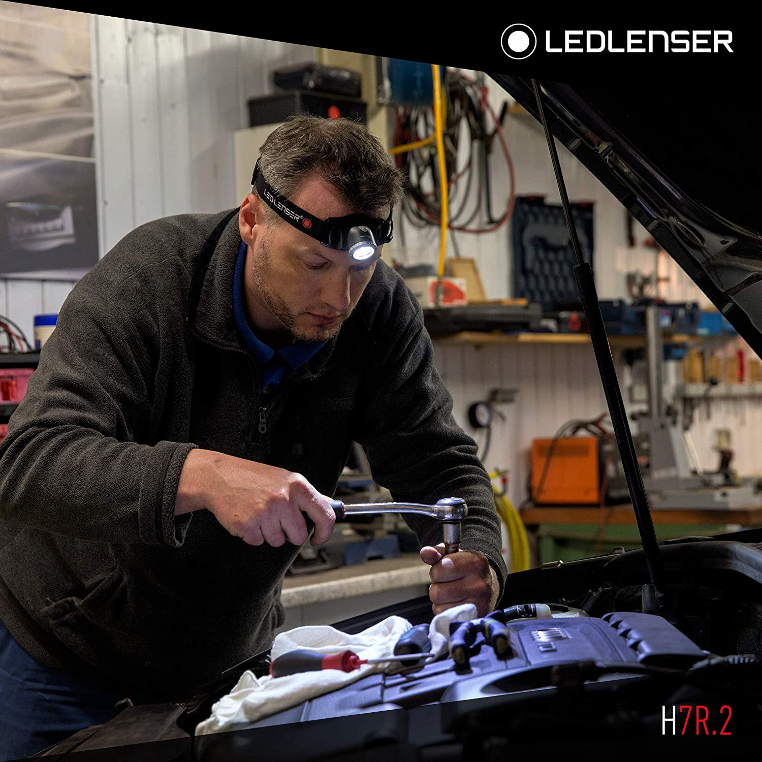 powerful 300 lumens and 160m beam range using advanced spot to flood optic gives long range beam and wide spread illumination LED Lenser LED7298 H7R.2 Rechargeable Head Lamp