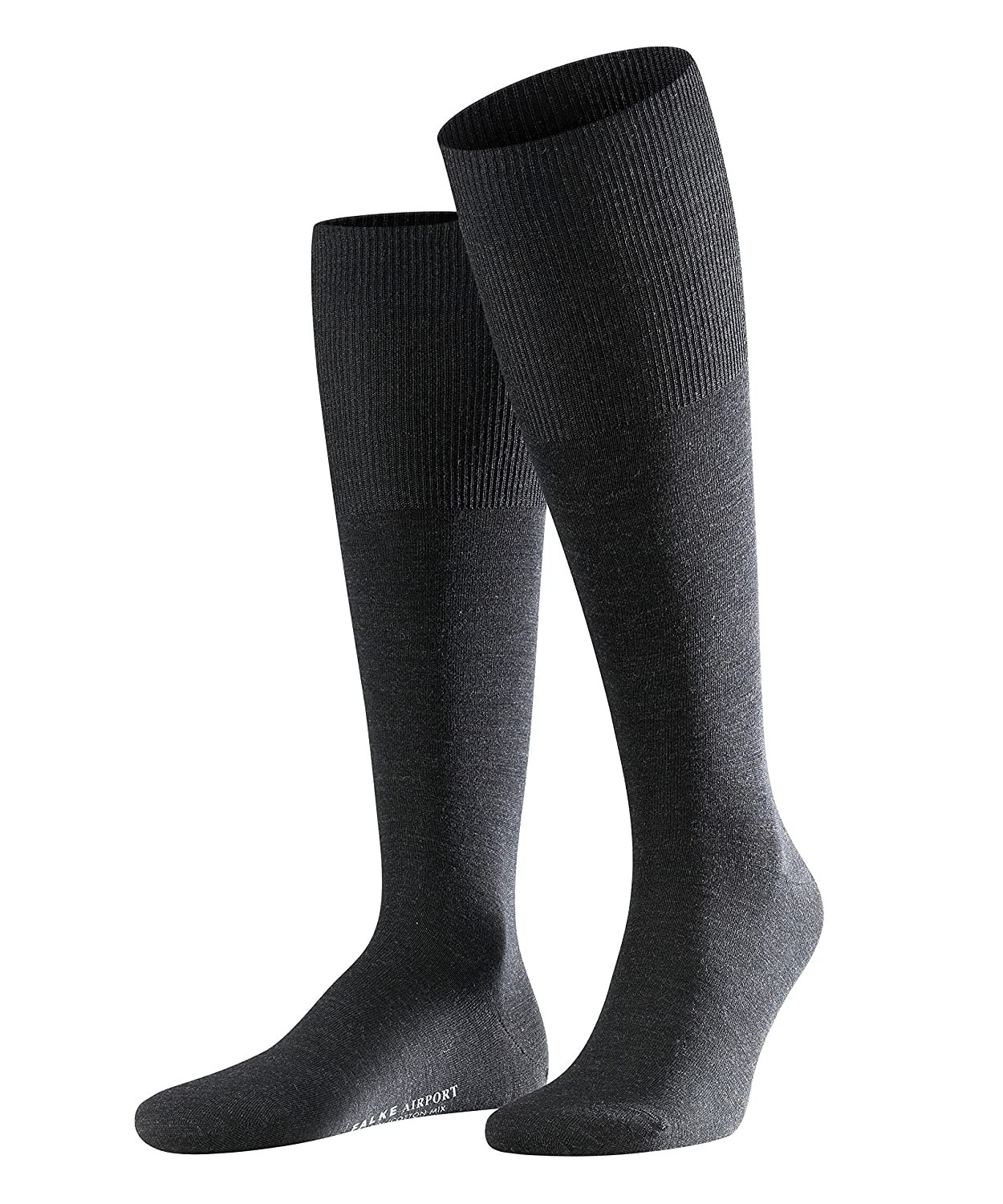 Virgin Wool//Cotton Blend ideal for any occasion UK sizes 5.5-14 EU 39-50 FALKE Men Airport Knee-High Socks thermo-regulating Warm Multiple Colours 1 Pair