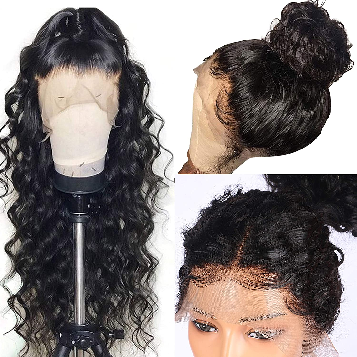 Full Lace Wigs Brazilian Pre Plucked Full