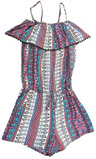 0ecb4b3fcc0 Image Unavailable. Image not available for. Color  Epic Threads Big Girls (7 -16) Multi-Print Romper Deep Black Medium