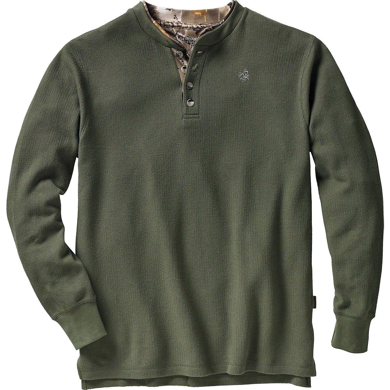 Legendary Whitetails Men's Summit Double Collar Henley Shirt