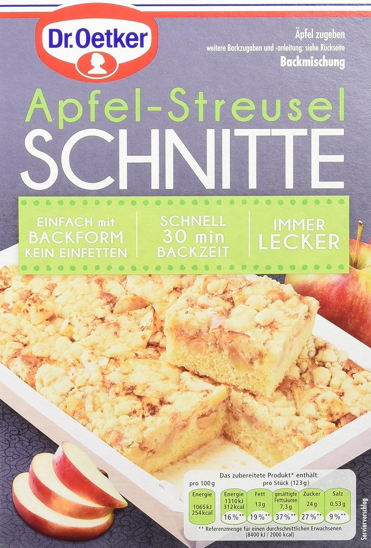 Dr Oetker Apfel Streusel Schnitte 8er Pack 8 X 436 G Amazon De