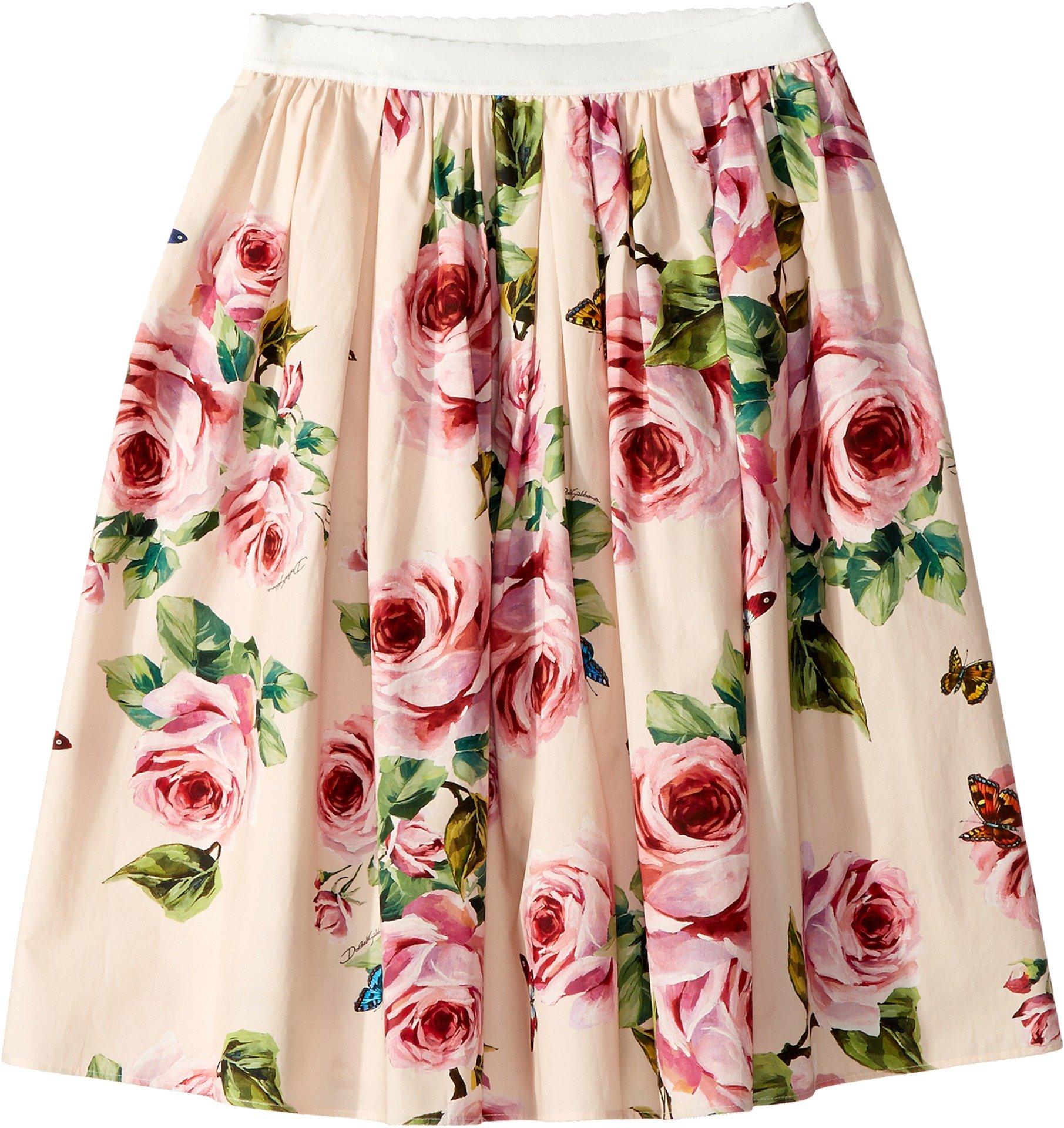 Dolce & Gabbana Kids Girl's Skirt (Big Kids) Rose Print 12