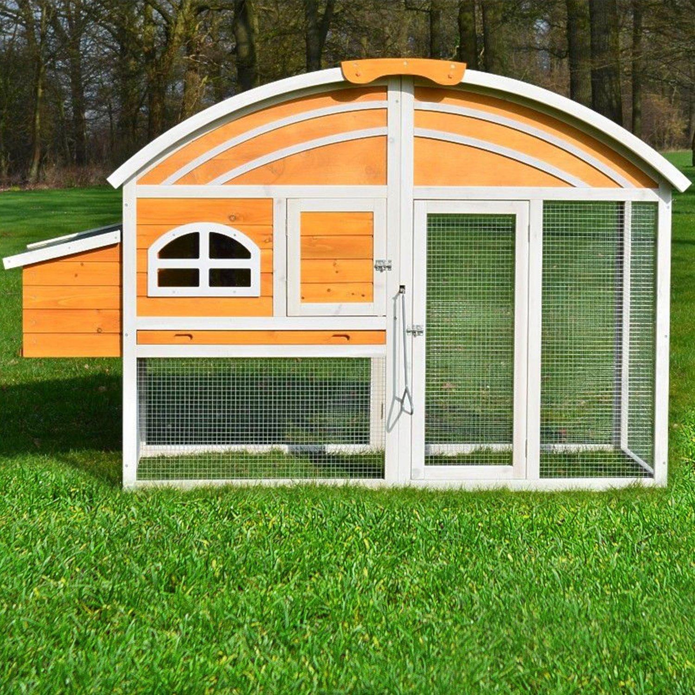 ZooPrimus Hühner-Stall Nr 90 Geflügel-Voliere KIKI-RIKI Enten-Haus für Außenbereich (Geeignet für Kleintiere: Hühner, Geflügel, Vögel, Enten usw.)