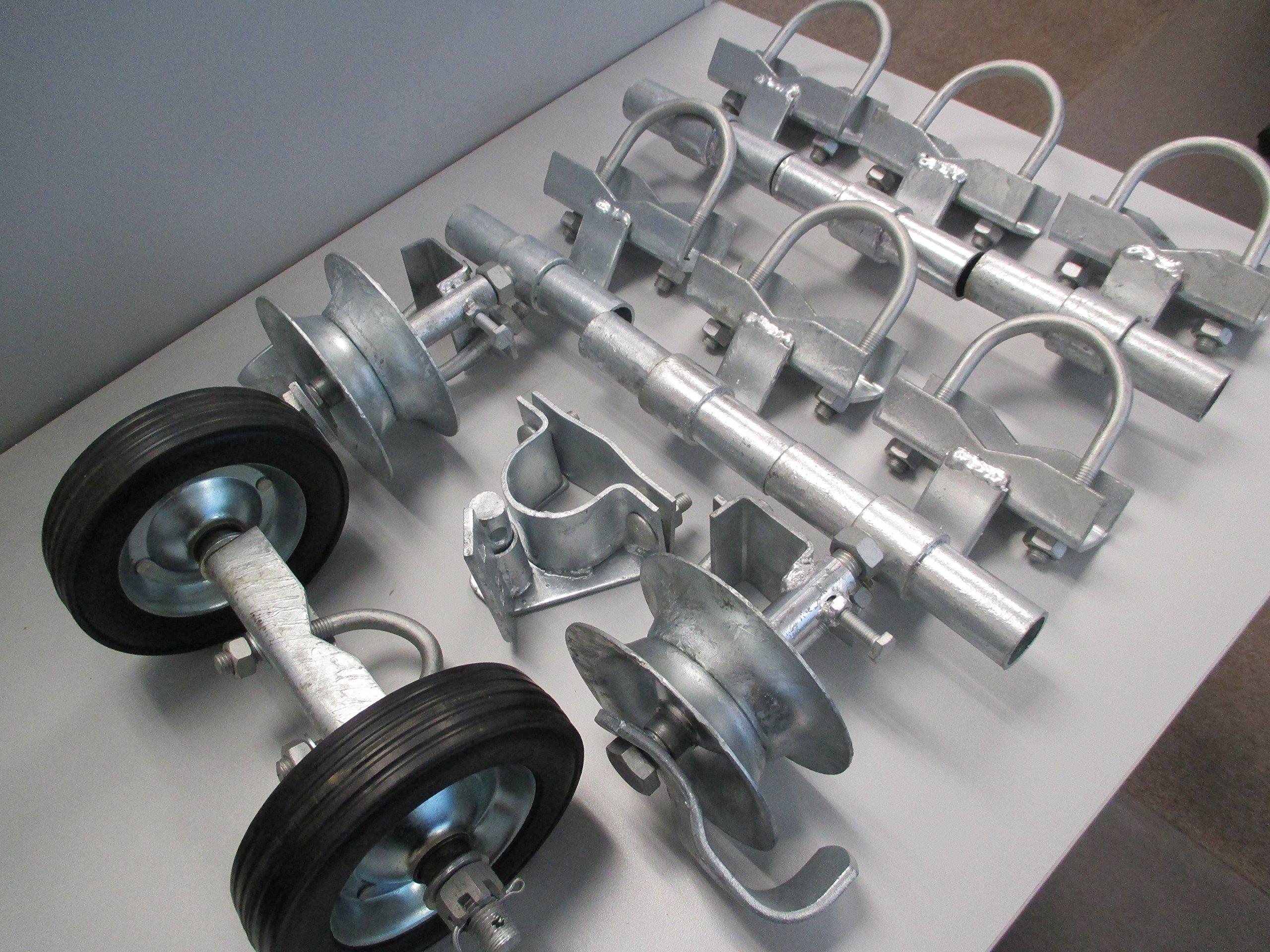 Chain Link Rolling Gate Hardware Kit (2'' Universal Track Bracket)